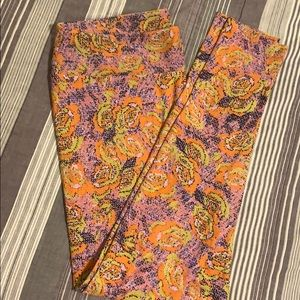 Floral LuLaRoe TC Leggings NWOT